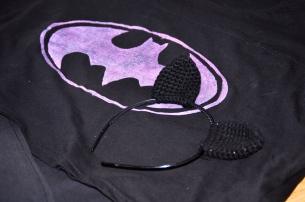 Batmantryck och kattöron